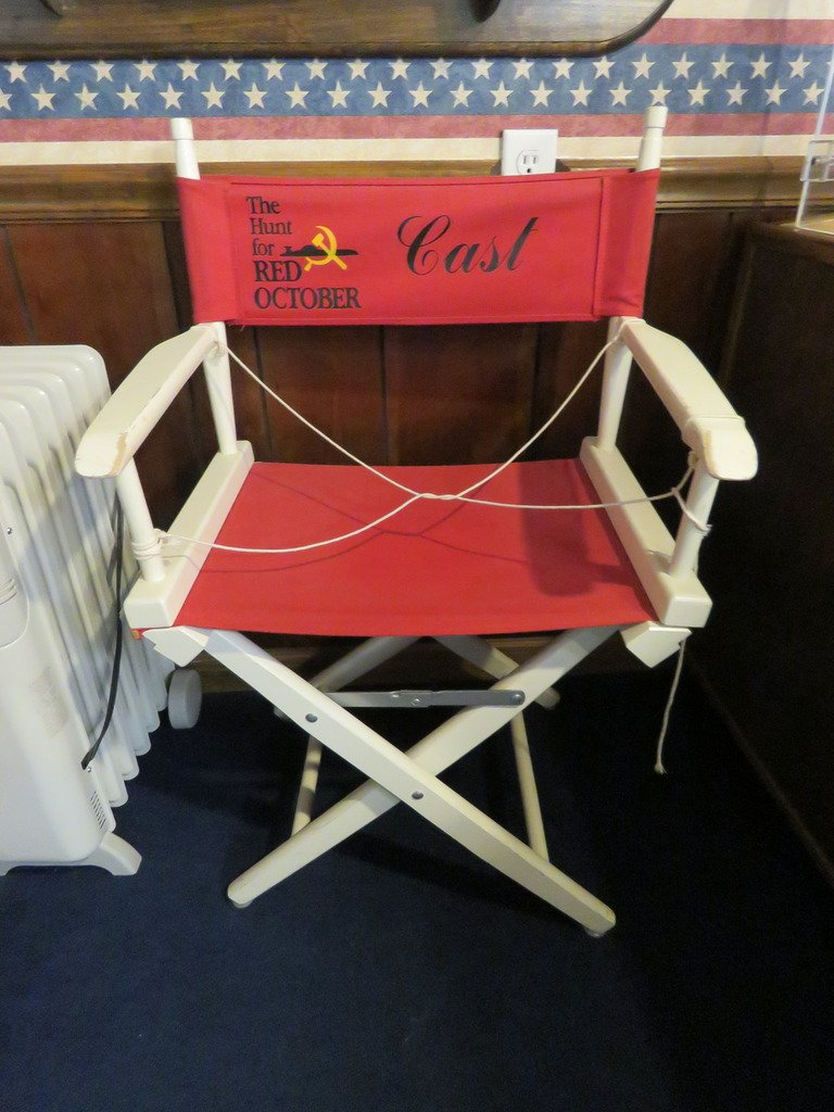 "Cast chair from the movie ""Hunt for Red October,"" a movie adaptation of Tom Clancy's 1984 novel. Credit: The Hesters"