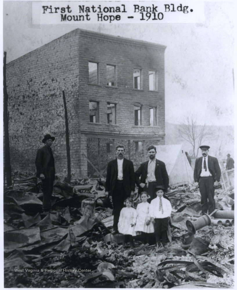 Picture taken after the fire of 1910. One of the only structures remaining after the great fire.  