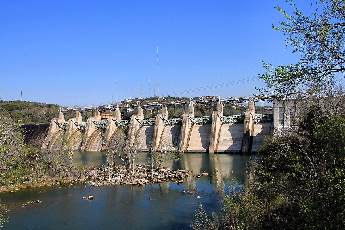 Tom Miller Dam today, photo by Larry D. Moore.