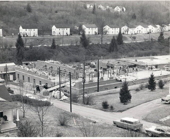 Image of Stadium Terrace Housing during building of U.S. Mine Safety and Health Administration building.