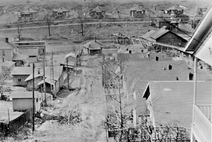 "Image of Sugar Creek Coal Company housing.  These houses would late be replaced during the ""New Deal"" by one of the first housing developments in U.S. history."