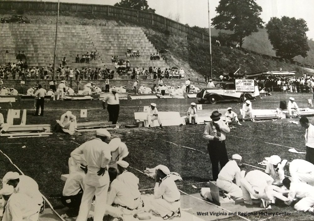 Miner's Safety Competition shortly after the opening of the Mount Hope Stadium.