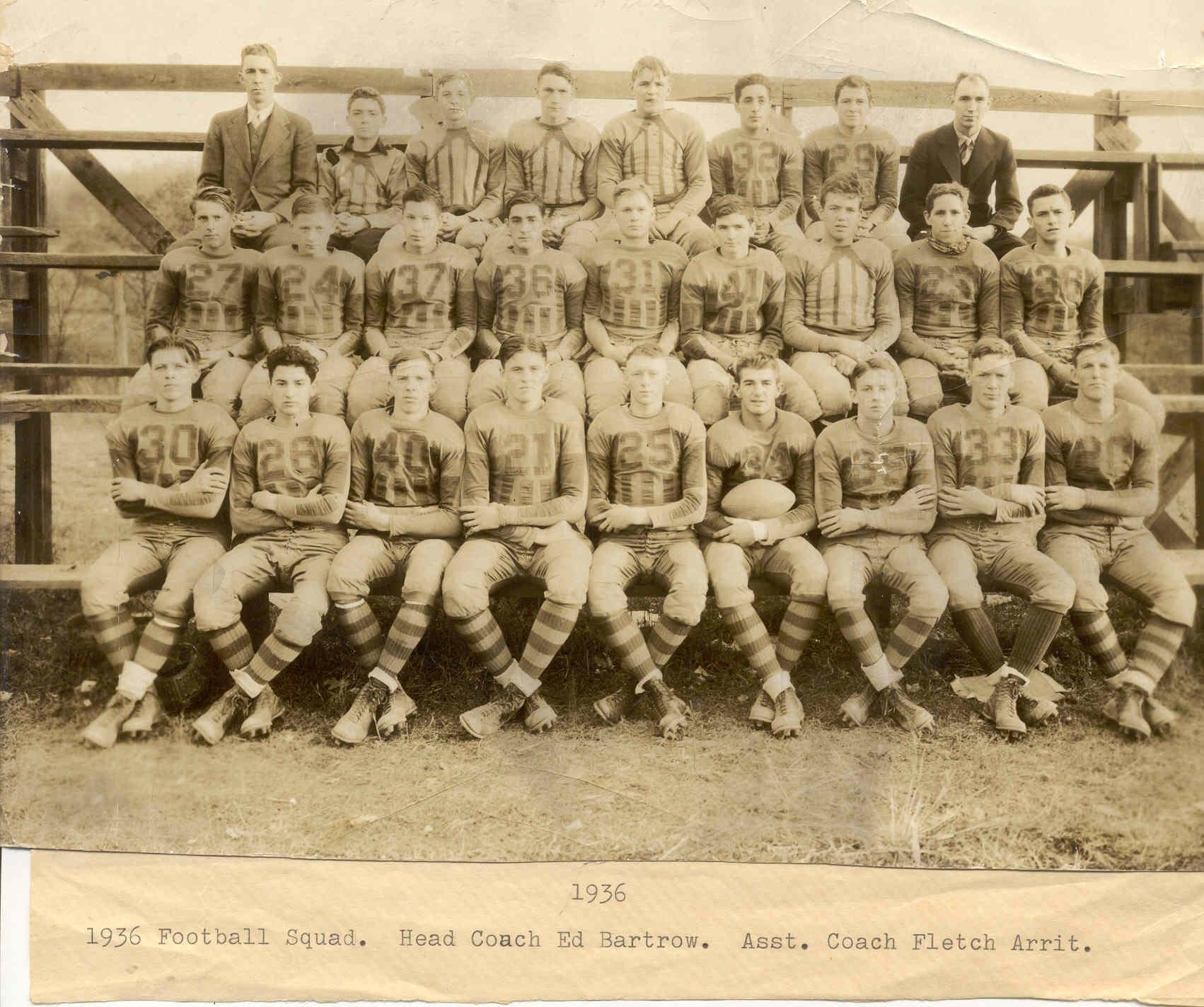 Mount Hope's 1936 Football Team