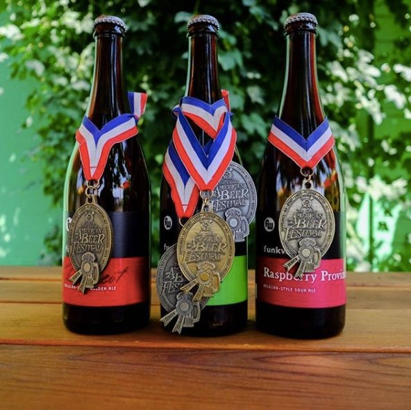 Funkwerks' Awards from the Great American Beer Fest (posted September 16, 2018 on Instagram, @funkwerks)