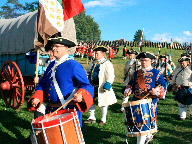 Reenactors depict life at Fort Ligonier and a battle that took place there in 1758.