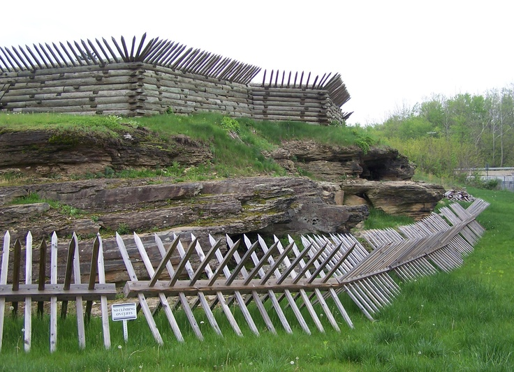The defensive works of Fort Ligonier, a French and Indian War era fort reconstructed in the mid-twentieth century.
