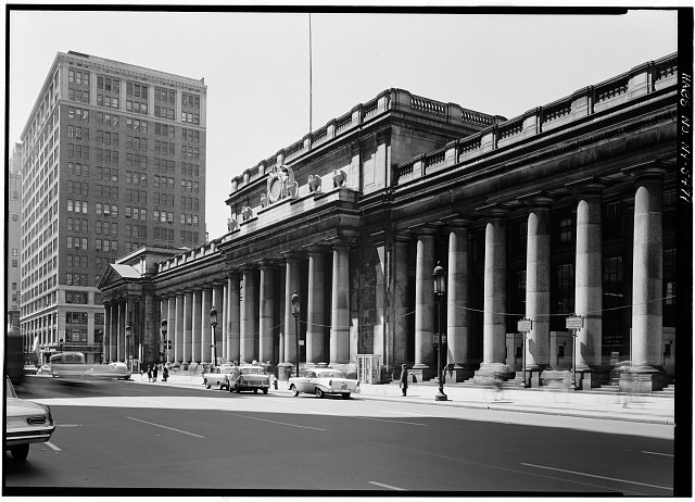 The first official building Pennsylvania Train Station.