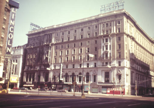 The Claypool Hotel just prior to its demolition in 1969
