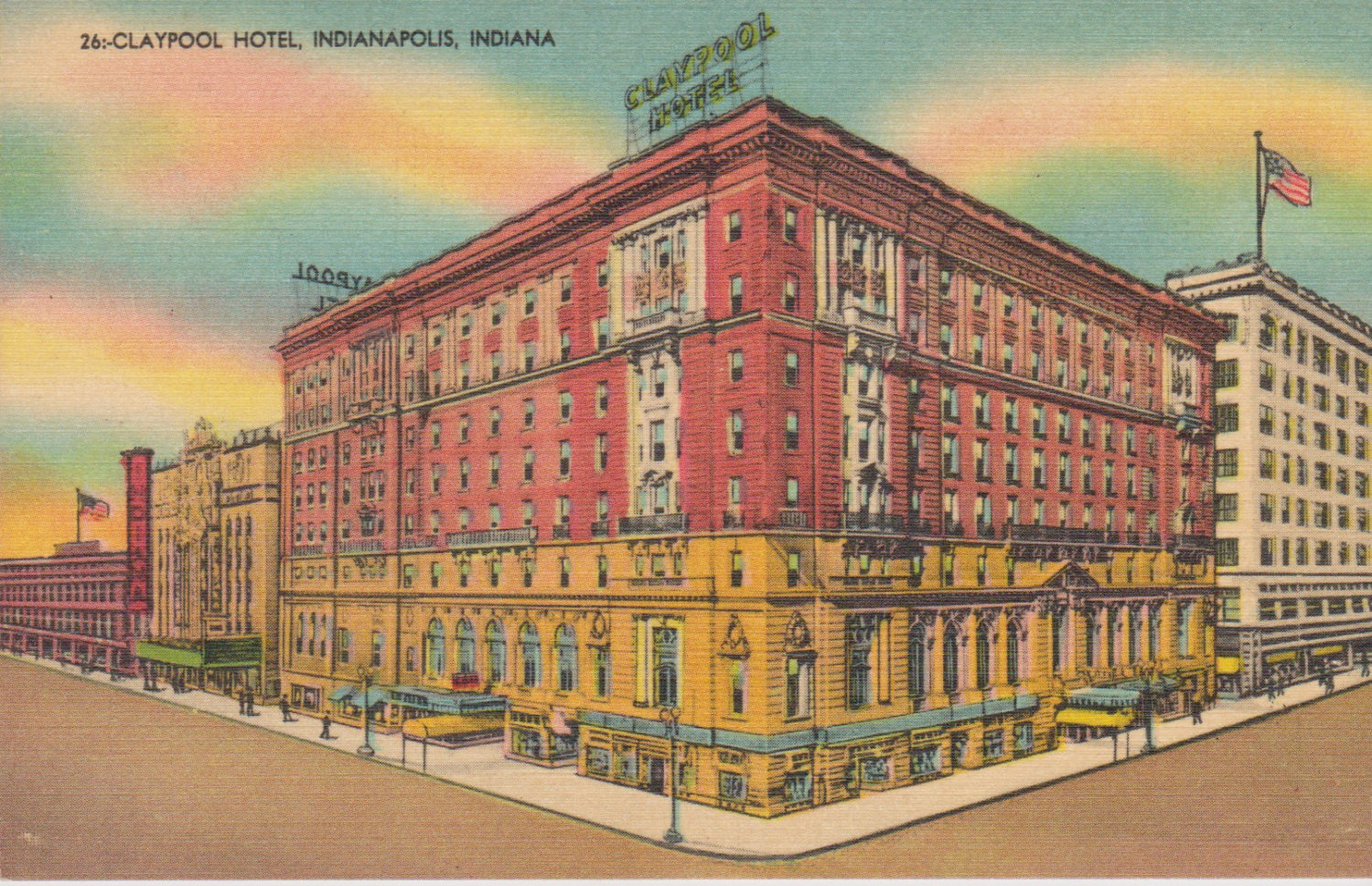 The Claypool Hotel was one of the largest and most luxurious hotels in the United States when it opened in 1903.