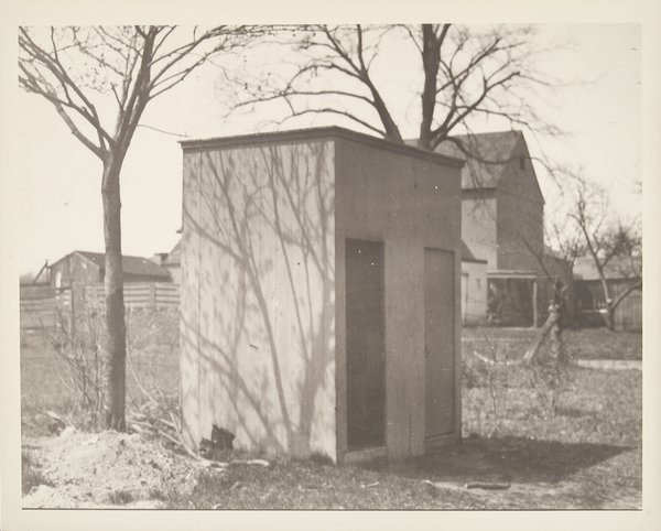 Original two-door outhouse