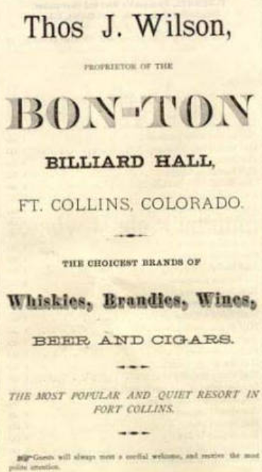 Advertisement flier for Bon-Ton Billiard Hall, 1880.