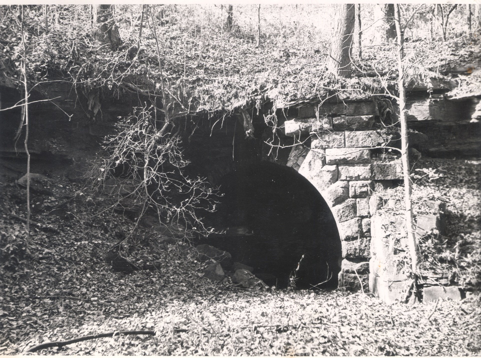 Pilcher Tunnel opening, circa 1950. Courtesy of the Southeast Ohio History Center.