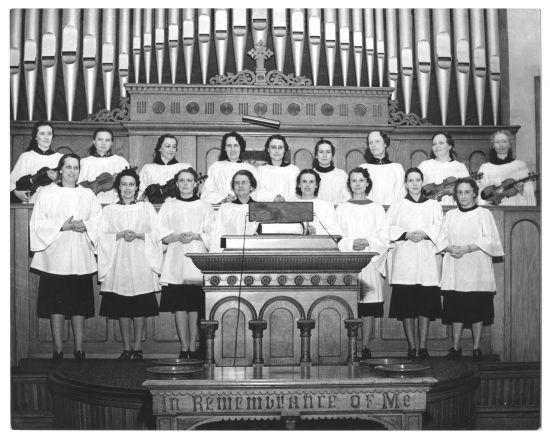 Choir at Third Baptist Church, date unknown