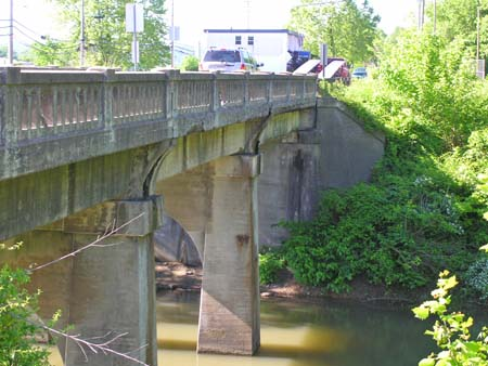 Present day bridge, near the location of the 1861 covered bridge long since taken down.