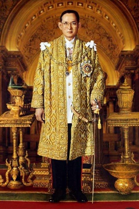 Royal portrait of King Bhumibol Adulyadej