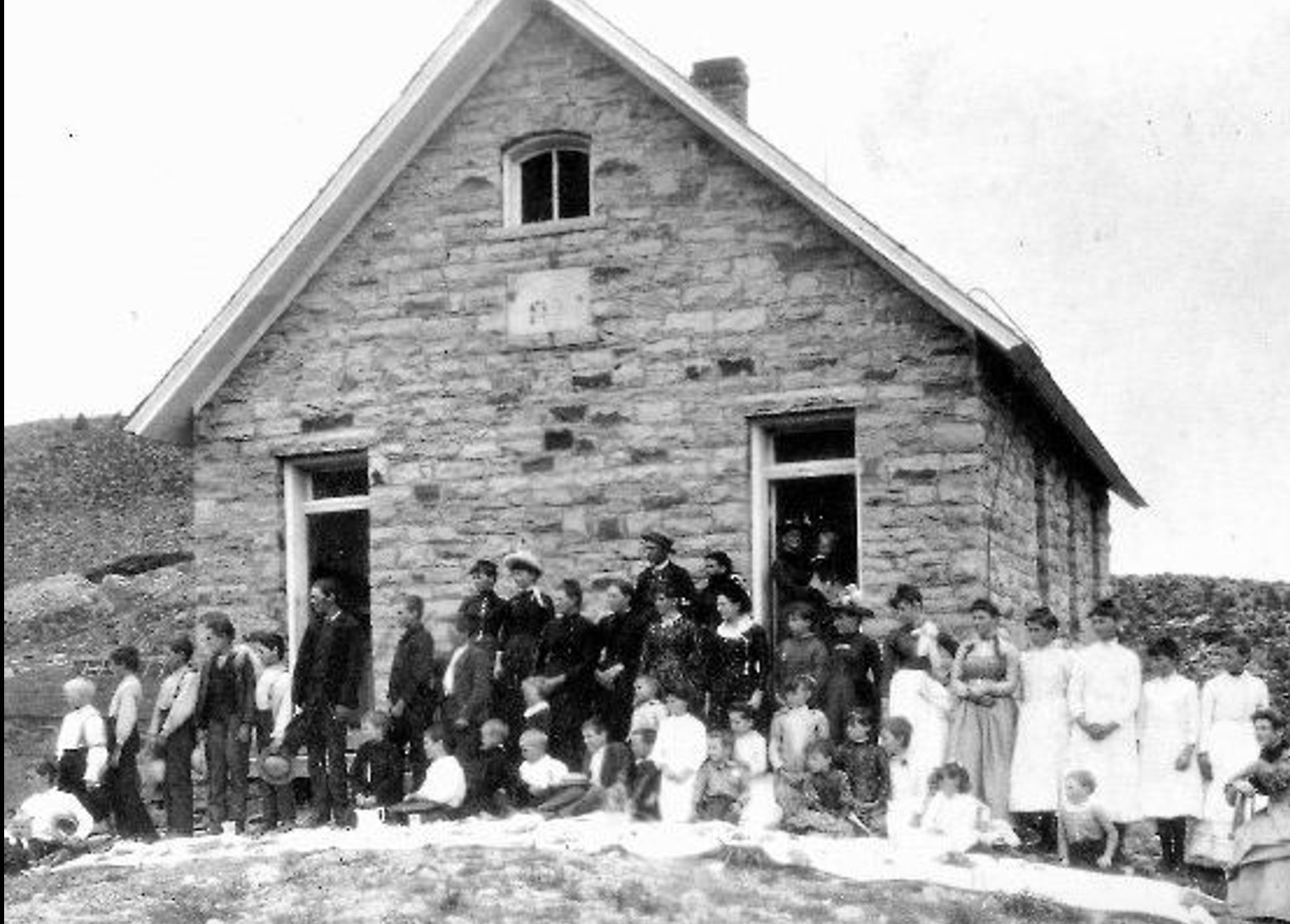 Highland School at Stout, 1889. (Courtesy of the Fort Collins Public Library)