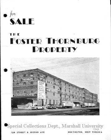 Flyer for the sale of Foster-Thornburg Property, 1967