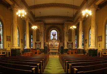 The interior of the Mary Keane Chapel.