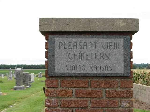 """The Entrance to Pleasant View Cemetery, burial site of the participants of the """"Cassel Party."""" Photo by Carol Mills."""