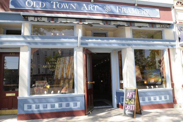 Old Town Art and Framery: the current shop in the building where Robert Miller was shot and killed in 1905.