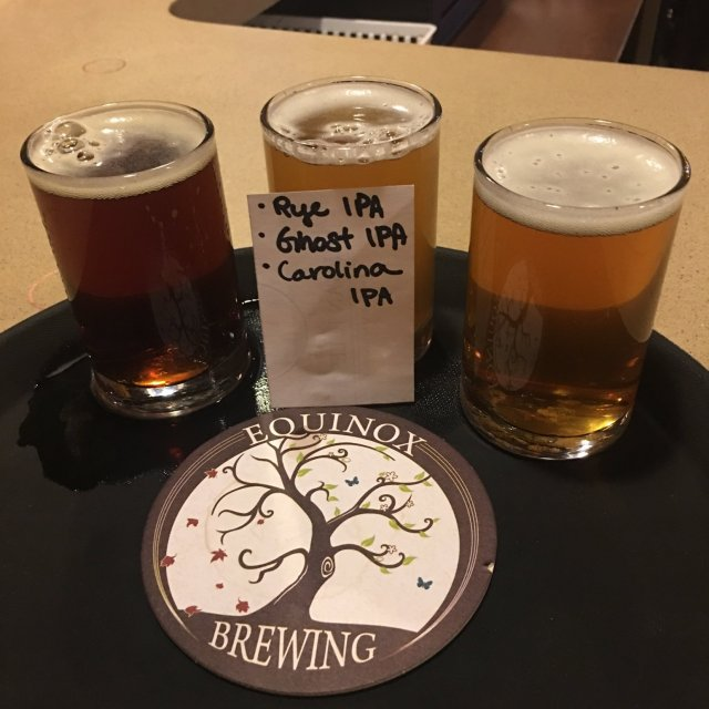 A picture of three of their most famous beers. This was taken by a customer to show off the beers he had just ordered. (2018)