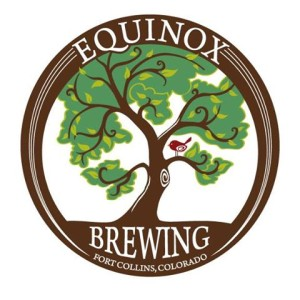 The logo of Equinox. In this photo, we see how the brewery attempts to capture the growth and beauty of the spring equinox. (2010)