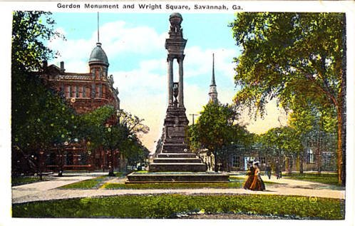 Postcard of the monument. Retrieved from Georgia Archives. http://vault.georgiaarchives.org/cdm/ref/collection/postcard/id/927