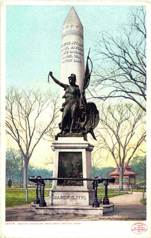 Postcard of the statue printed circa 1900.