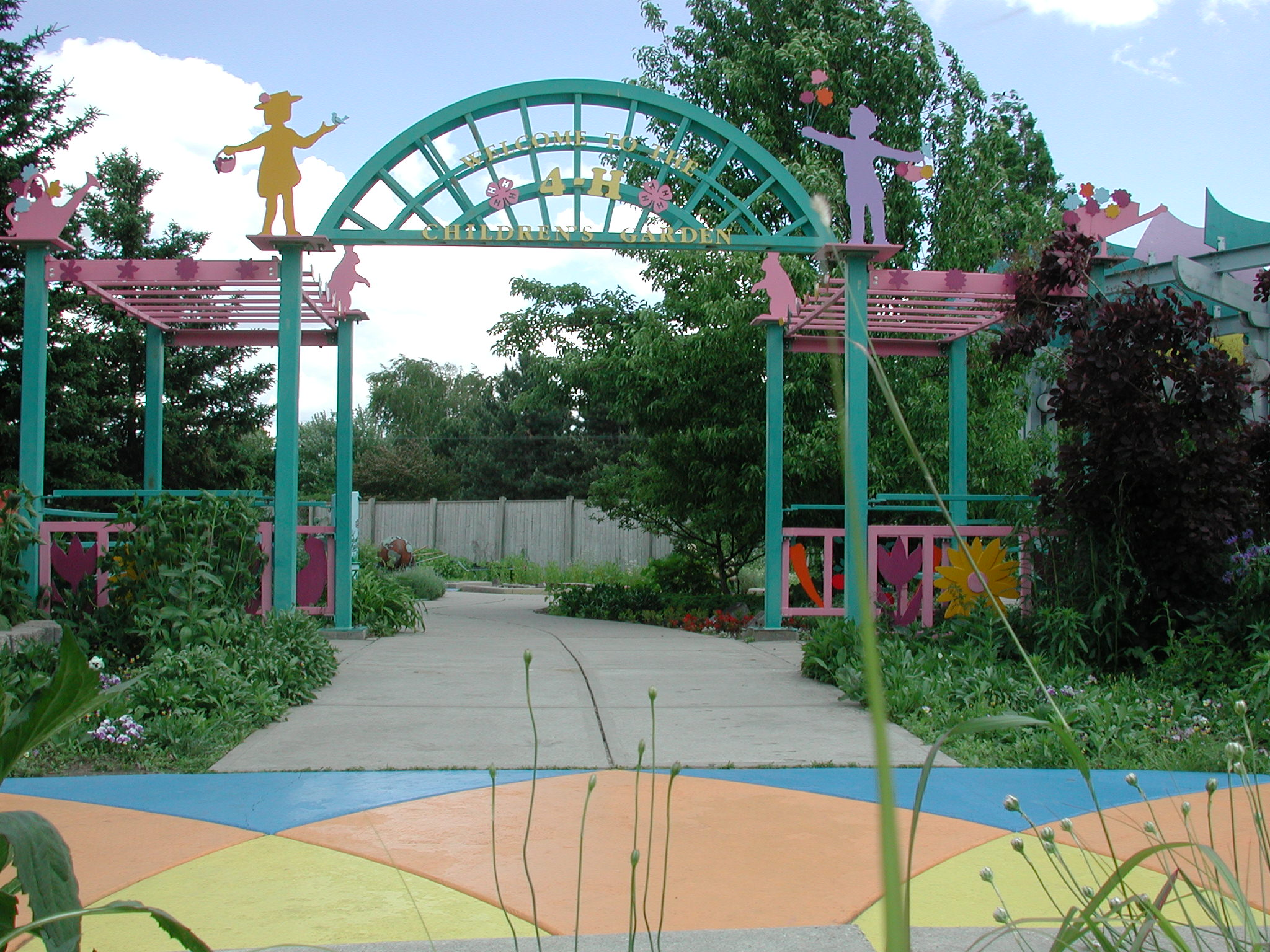 4-H Children's Gardens entrance
