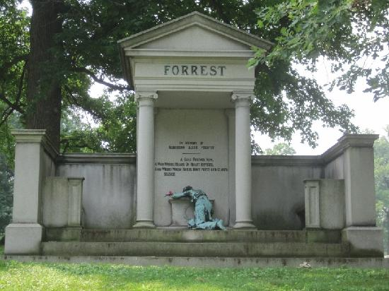 The famous Forrest Memorial was designed by Rudolf Schwarz and features a prostrate woman in elegant detail.