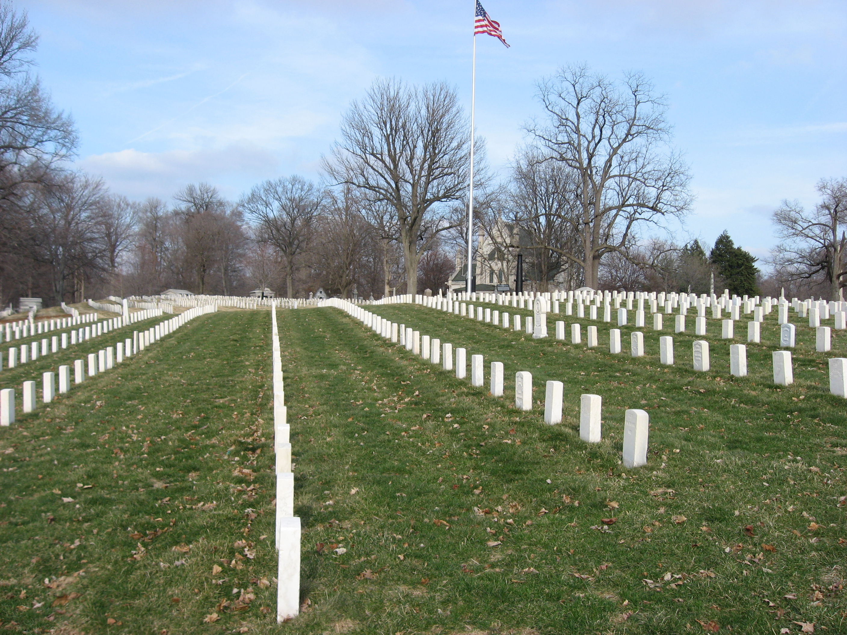 The Crown Hill National Cemetery was dedicated in 1866.