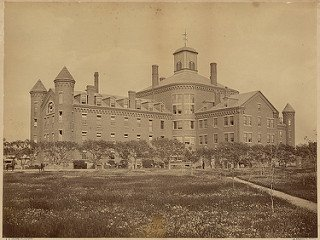 This is a view of the second Almshouse, located on Deer Island. Photo courtesy of Flickr.