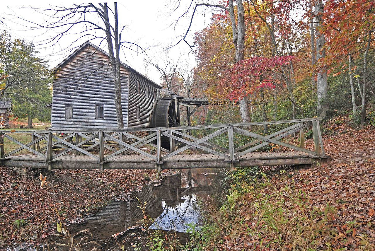Hagood Mill was built in 1845 by James Hagood.