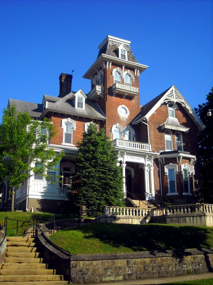 The Jonathan M. Bennett House was constructed in 1875 and was designed in the Riverboat Gothic style. Image obtained from the Louis Bennett Public Library.