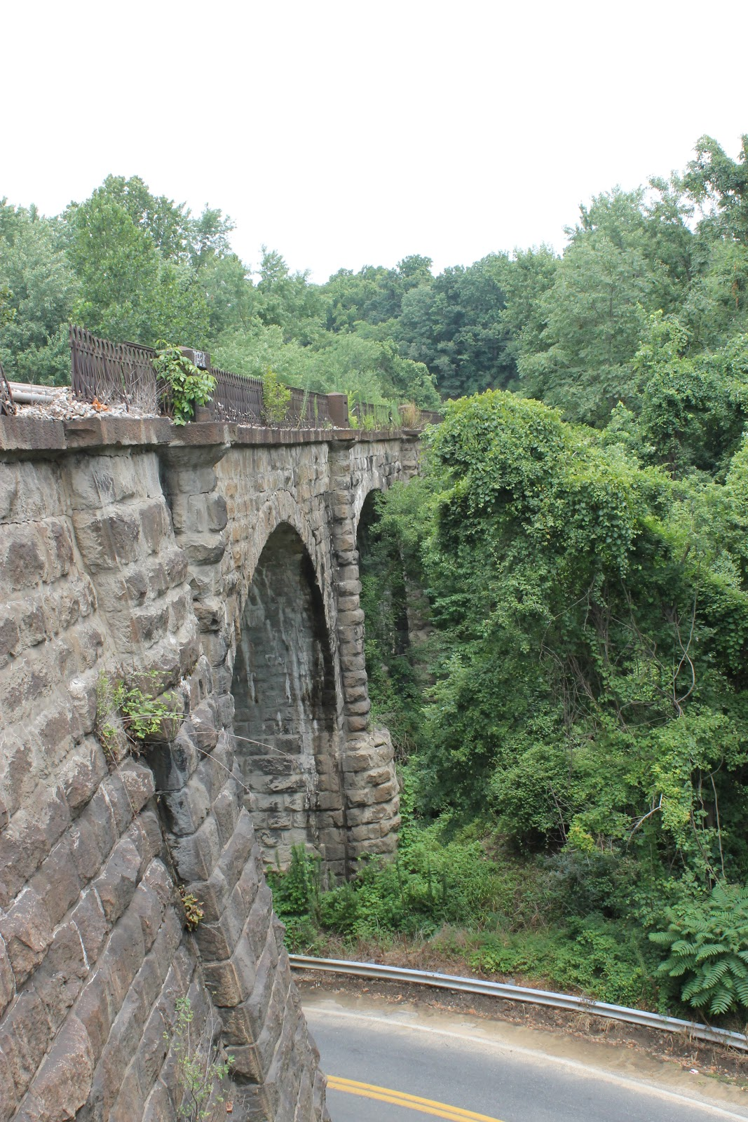 This photo shows how the viaduct has deteriorated over the years.