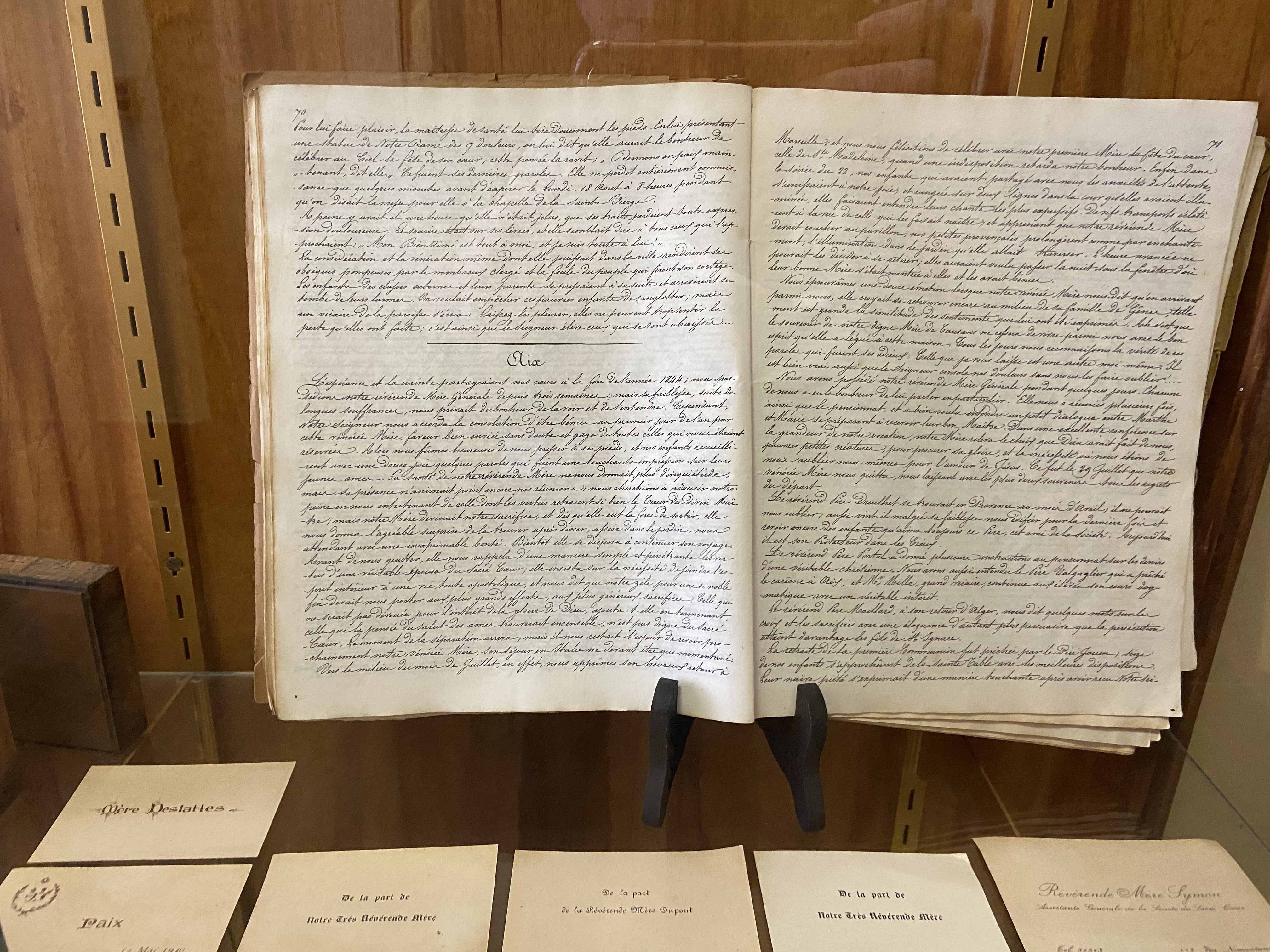 The annual letters was a compilation of news from each house of the Society.  These accounts were sent to the Mother House in Paris where they were hand written and circulated to each convent.