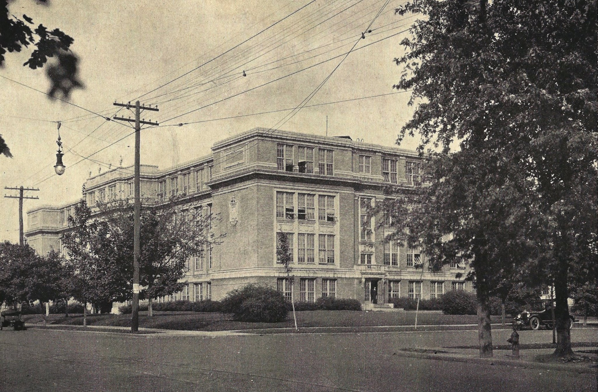 Looking north at HHS in 1928