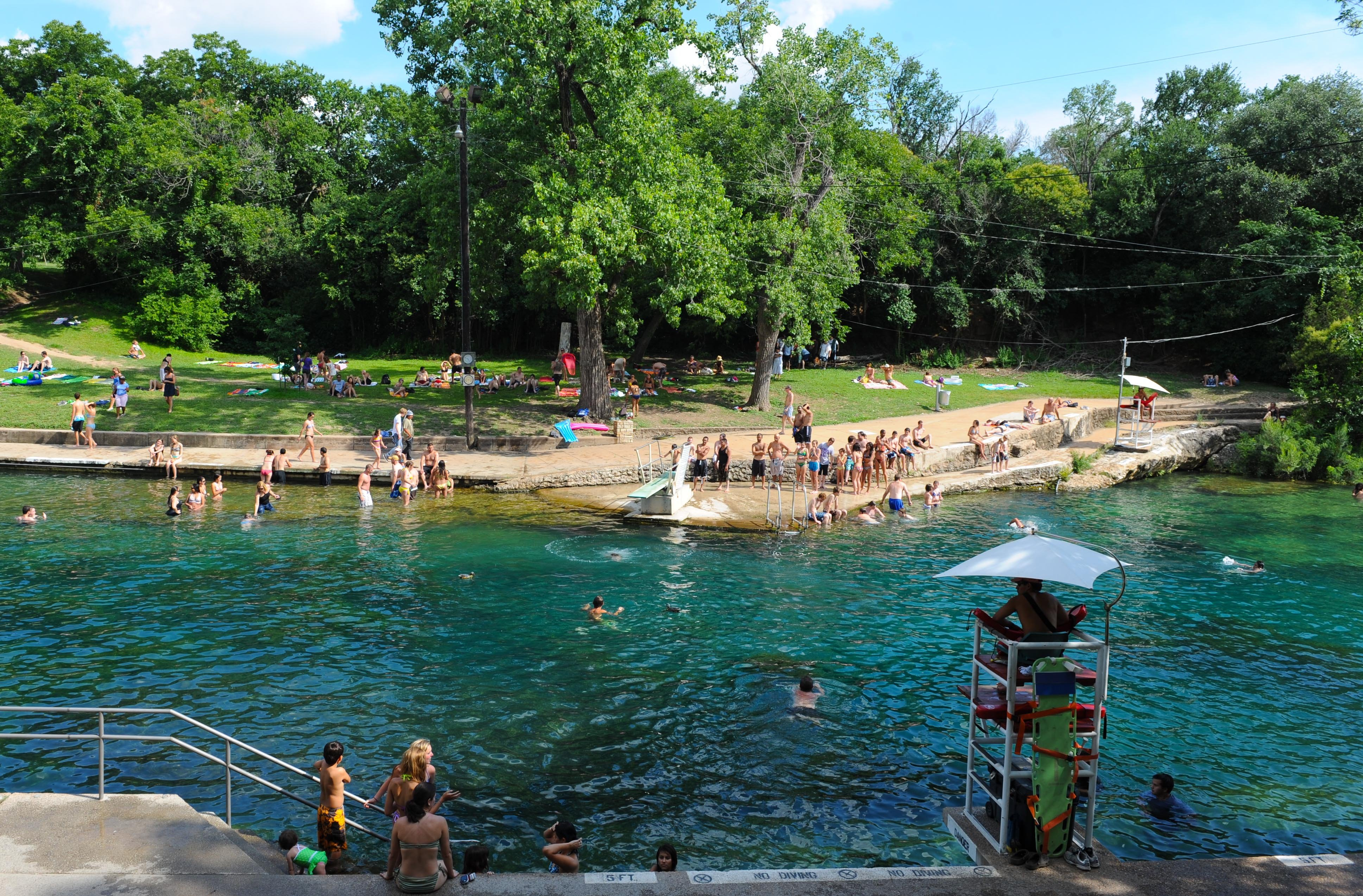 Barton Creek is a popular swimming destination in Austin.