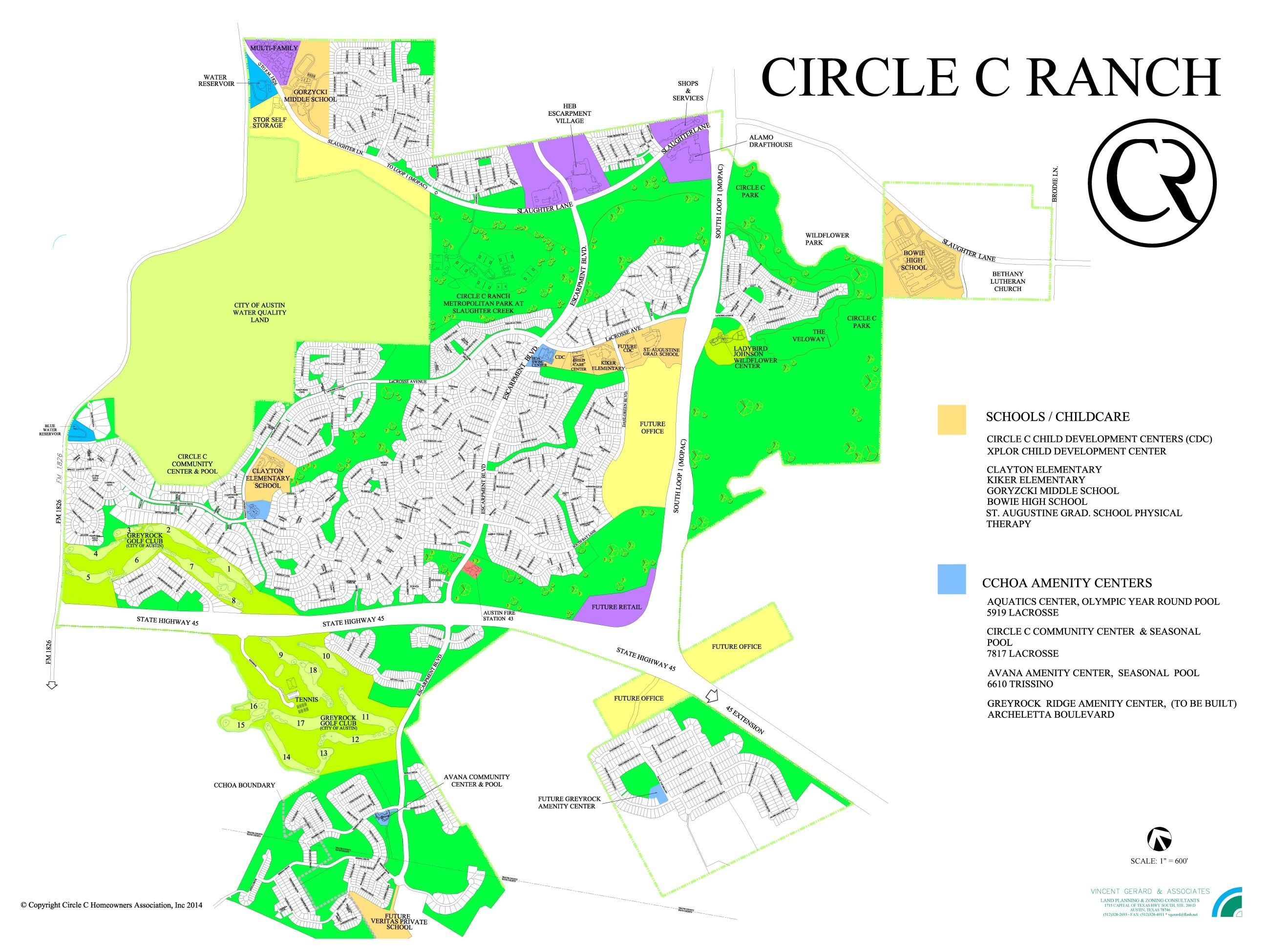 Map of Circle C Ranch