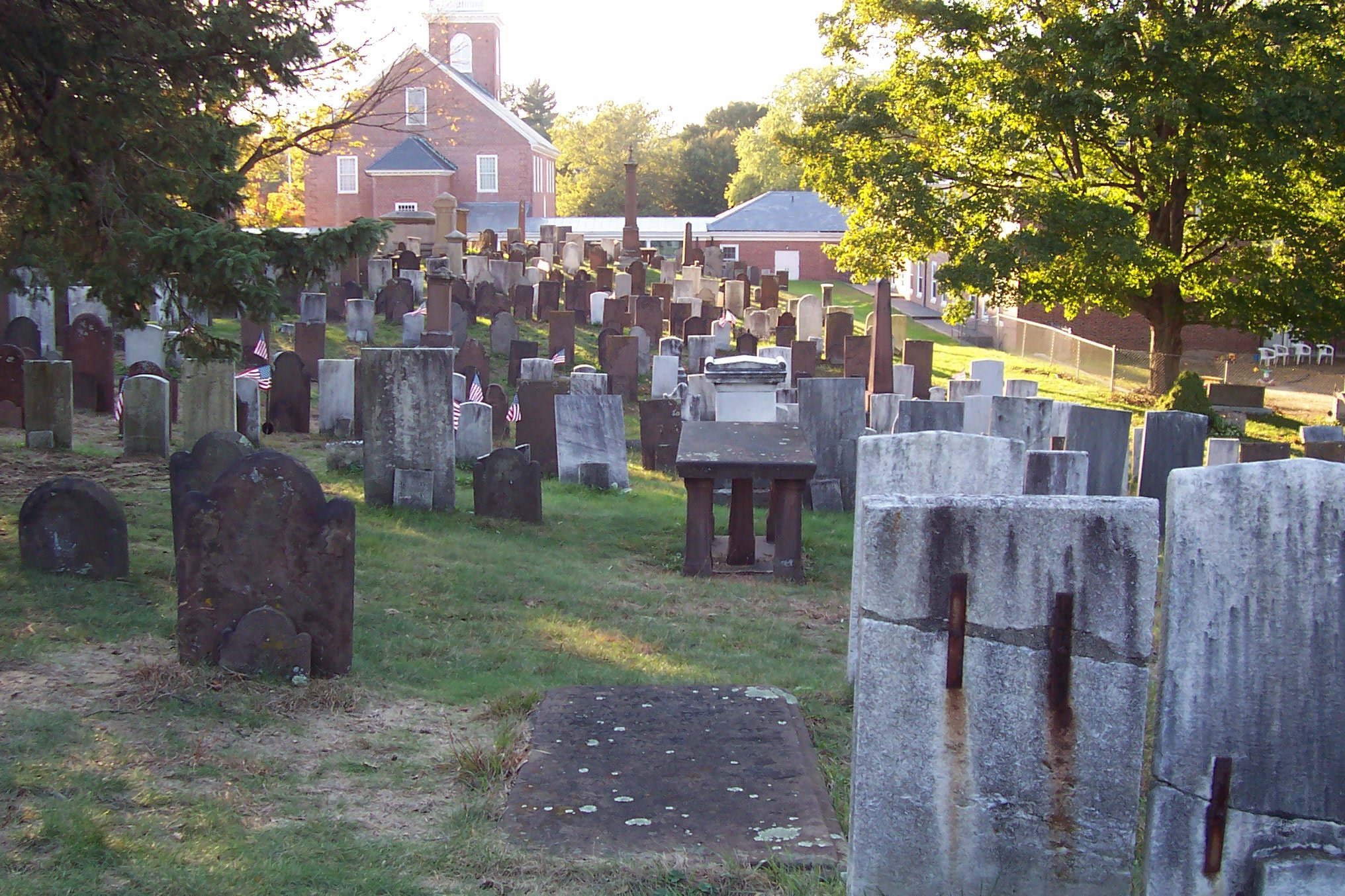 Ancient Burying Grounds at the First Church of Christ (in Hartford).