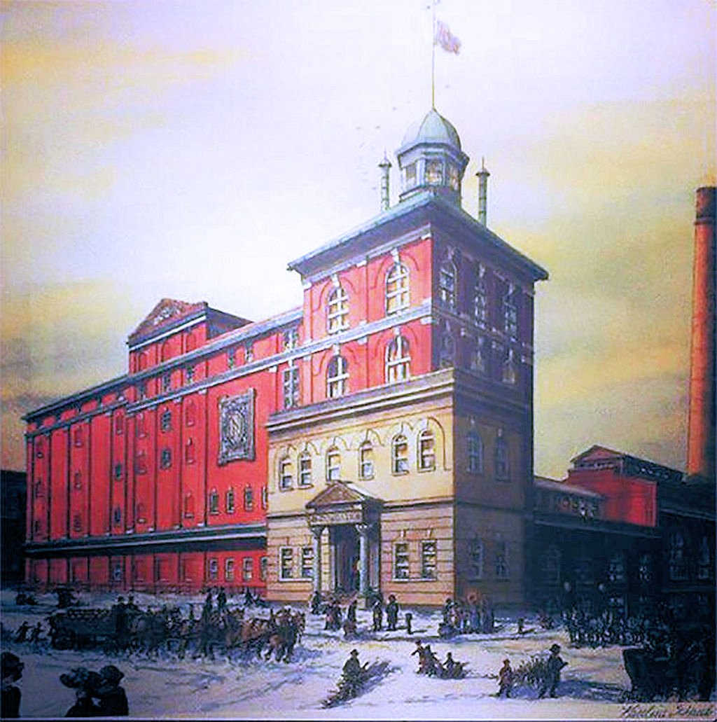 The same Neuweiler office building at its opening in 1913.