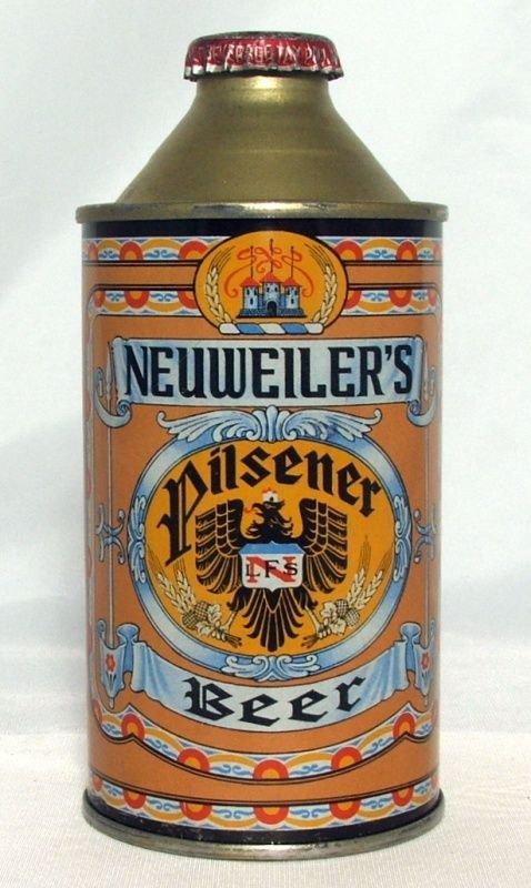An old can of Neuweiler Pilsener.