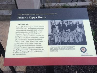 Marker for the Historic Kappa House Photo by: J. Makali Bruton, March 24, 2016