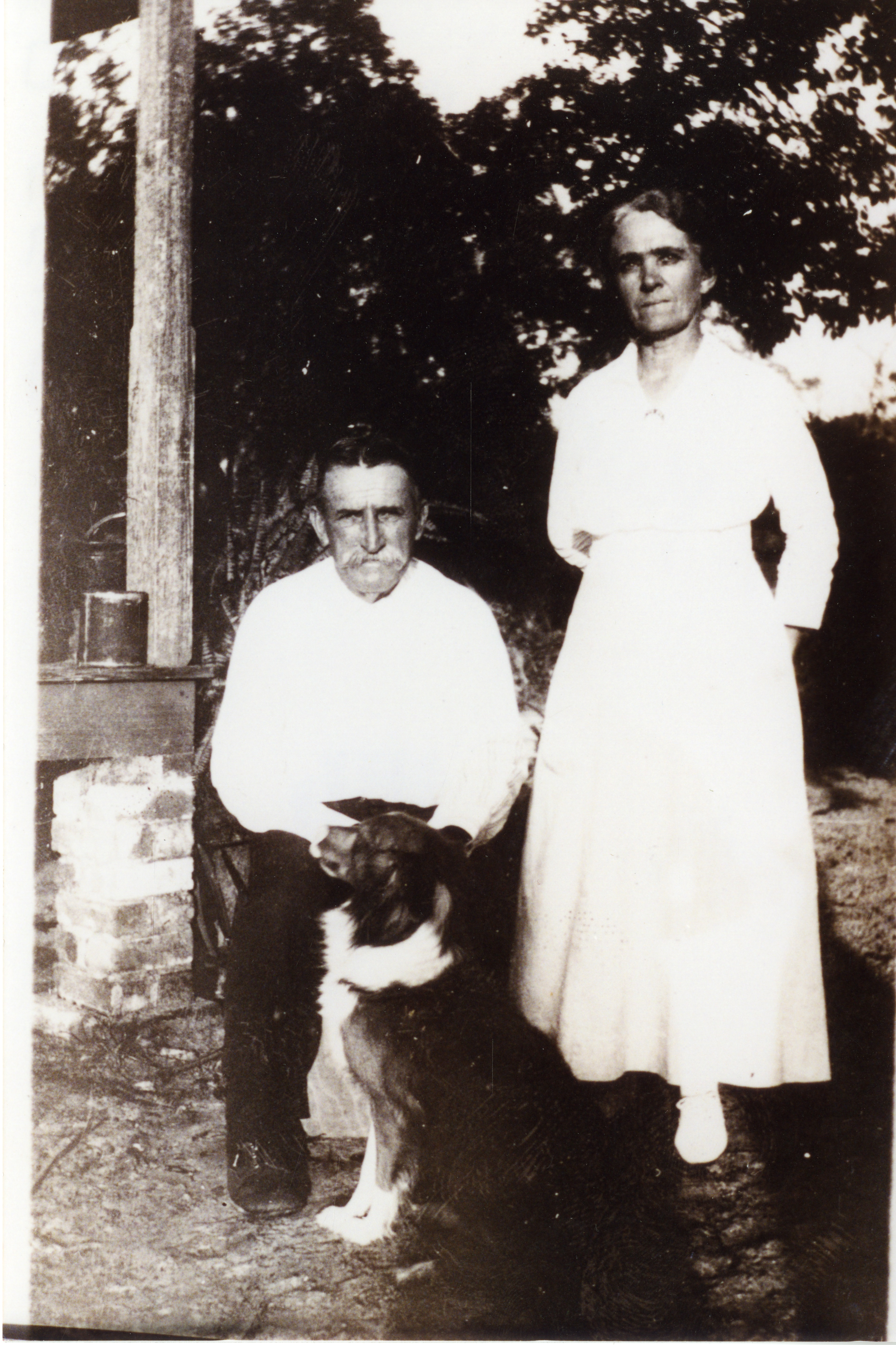 Wesley and Mary Louise Pinder Lowe, Anona, Florida, circa 1930.