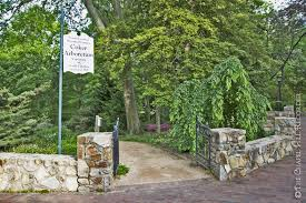 One of the entrances to the Coker Arboretum