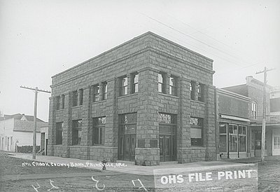 Early image of the Bowman Memorial Museum from when it was a bank.