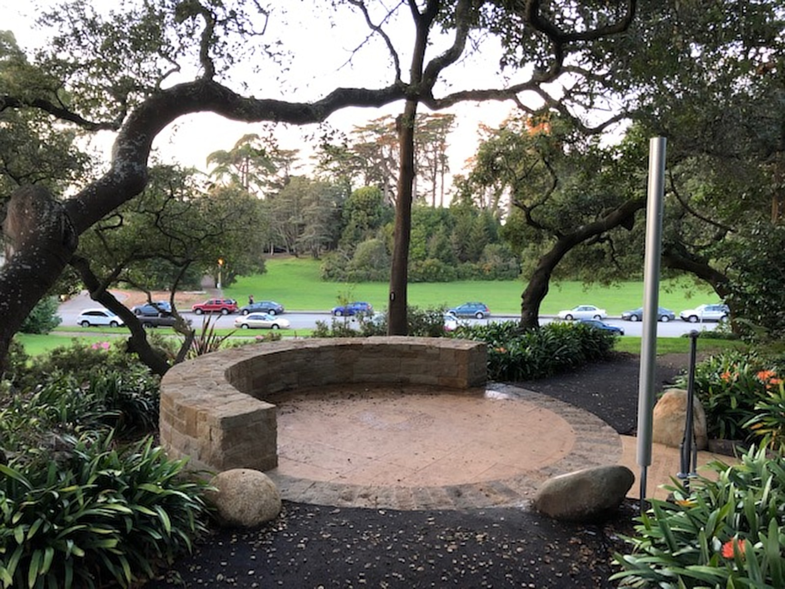 The Artists Portal in the National AIDS Memorial Grove, dedicated by the San Francisco Gay Men's Chorus on December 1, 2018, the 25th Anniversary of World AIDS Day