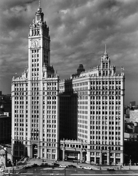 The Wrigley Building with both sections complete