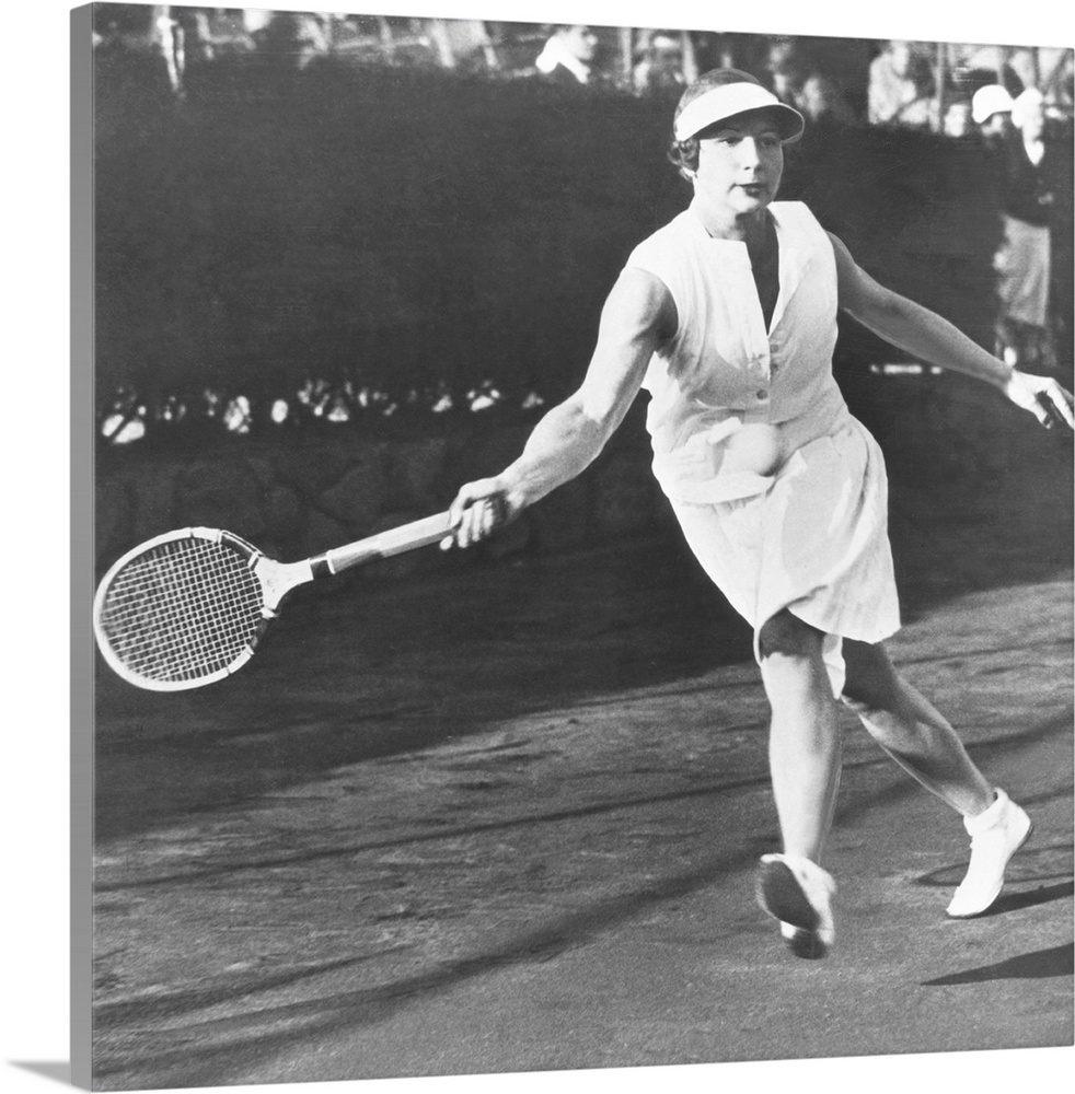 Helen Wills Playing at West Side Tennis Club