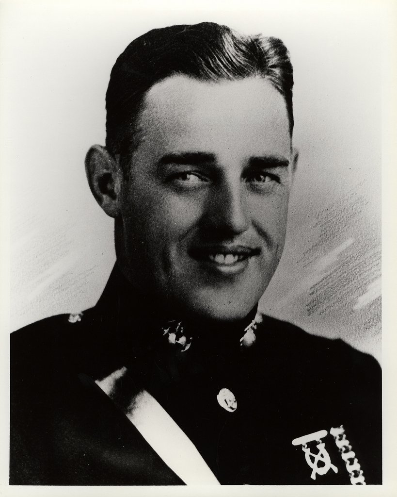 This is a picture of Major Kenneth D. Bailey in his United States Marine Corps uniform.